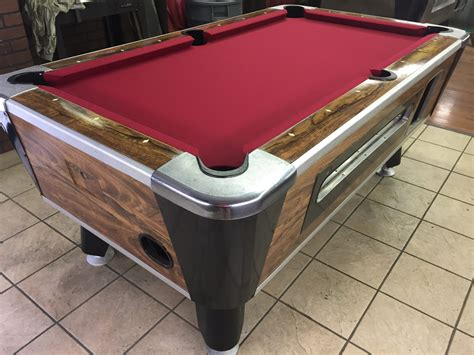 table 042217 valley used coin operated pool table used