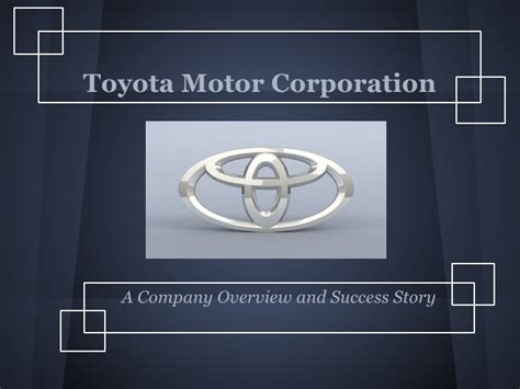 toyota company overview toyota