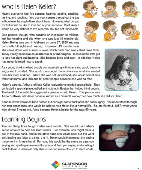 helen keller biography activities helen keller worksheets for 3rd grade worksheet exle
