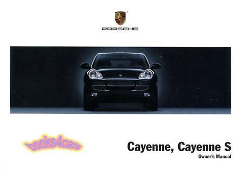 auto repair manual free download 2005 porsche cayenne engine control cayenne owners manual porsche 2005 book handbook guide porshe cayene ebay