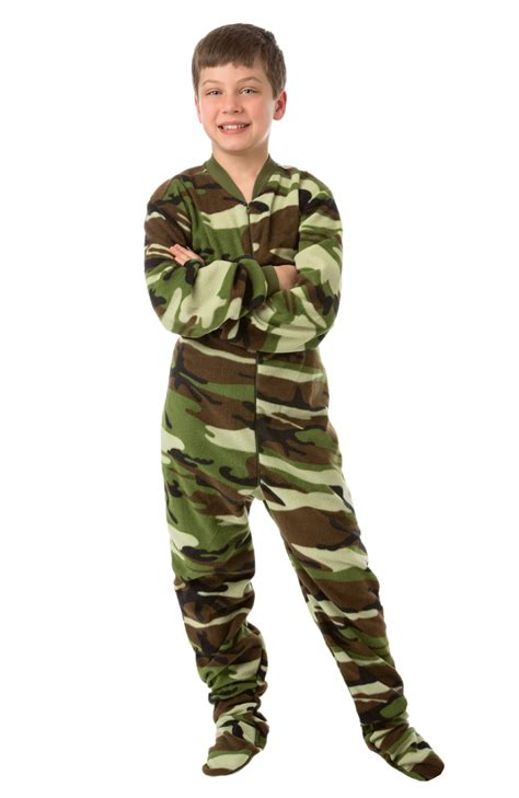Boys Footed Sleepers by Green Camouflage Footed Pajamas For Boys