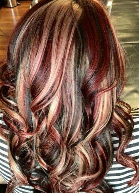 hairstyles blonde and red highlights brown hair color with red and blonde highlights hairs