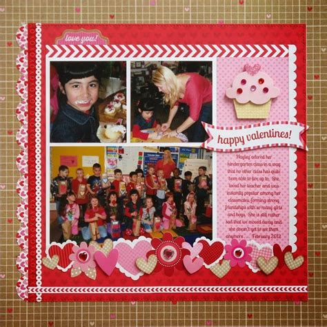 Valentines Scrapbooking Idea by 1000 Images About Scrapbook Layouts Valentines