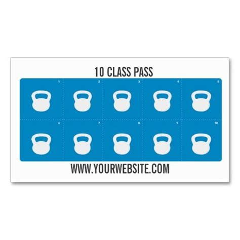 fitness punch card template fitness class business card template 10 class pass card