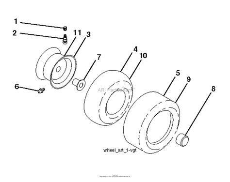 husqvarna gtcs    parts diagram  wheels tires