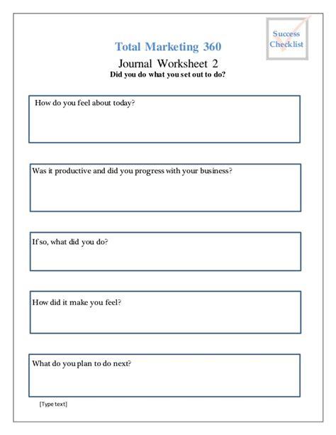 printable journal worksheets worksheet 4 daily journal