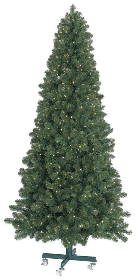 gki bethlehem olympia pine slim pre lit led christmas tree