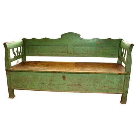 bench trunking 19th century french wooden bench or trunk 19th century