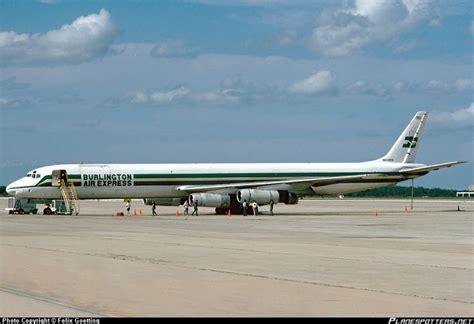 n868bx burlington air express douglas dc 8 63 f taken 13 04 1991 at orlando international