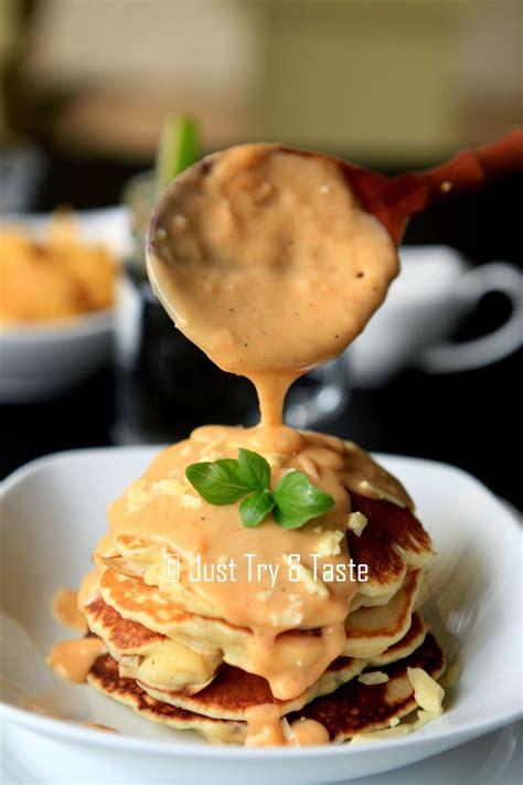 pancake sosis  saus keju   taste