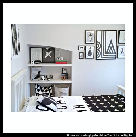 monochrome bedroom littlebigbell child s stylish bedroom monochrome little