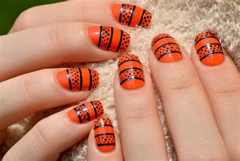 easy nail art orange and black 23 beautiful nail art designs for acrylic nails