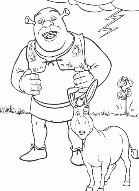 coloring pages of donkey from shrek free printable shrek coloring pages for kids