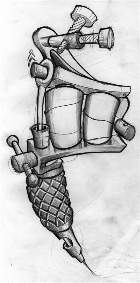 tattoo machine drawing gun sketch www pixshark images galleries