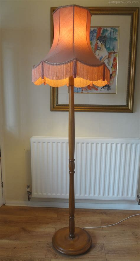 Antiques Atlas   Standard Lamp & Silk Shade
