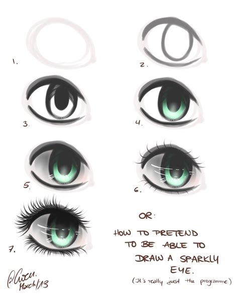 how to draw a eye how to draw an eye in seven easy steps by thegweny on