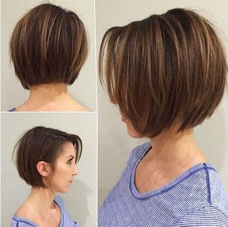 layered bob hair styles for thin hair back in front views short layered bob hairstyles will trending in 2018 hairiz