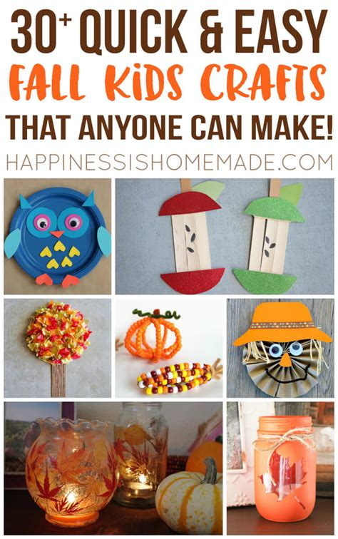 easy to make fall decorations easy fall kids crafts that anyone can make happiness is