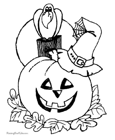 coloring pictures of scary pumpkins scary halloween coloring pages to print 014