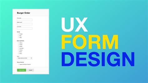 design pattern validation ux form design basics youtube