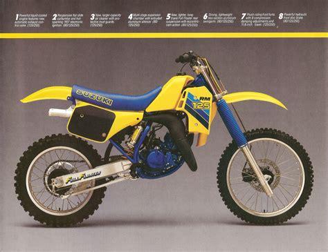 Suzuki Rm80 Specs 1986 Suzuki Rm 80 125 250 Brochure Floater Suzuki