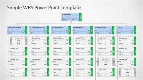 Wbs Word Template by Flat Editable Work Breakdown Structure Diagram Slidemodel