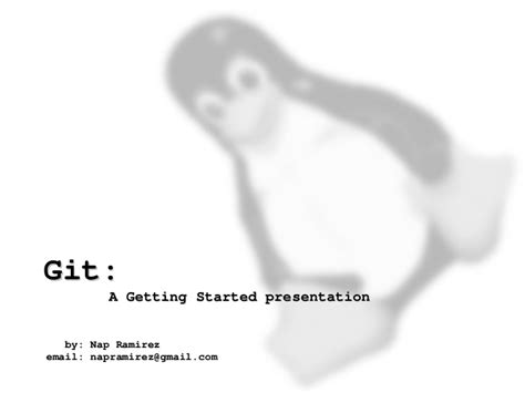 github tutorial for beginners ppt git a getting started presentation