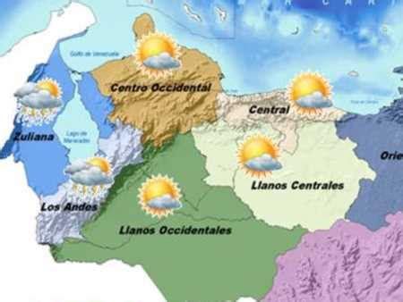 imagenes satelitales del clima en venezuela caracas