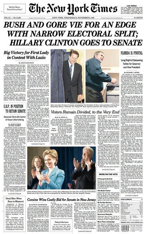 new york times new york times election front pages the new york times