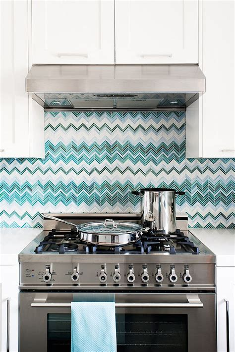 unique glass tile backsplash trend 20 ways to add stripes to your kitchen