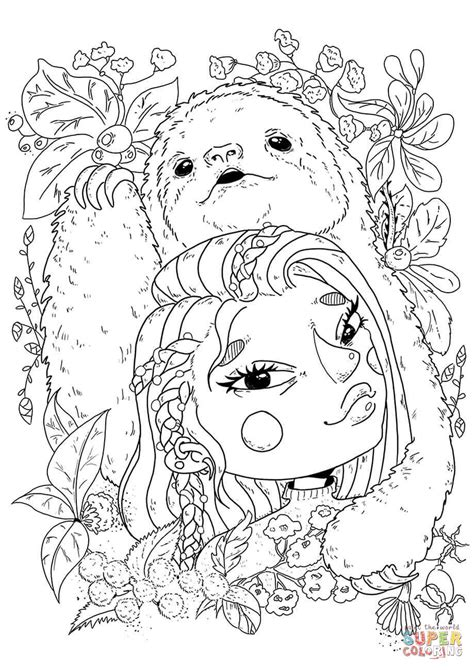 1 sloth coloring book best sloth coloring book for adults animals coloring book about sloths volume 1 books sloth black and white outline sketch coloring page