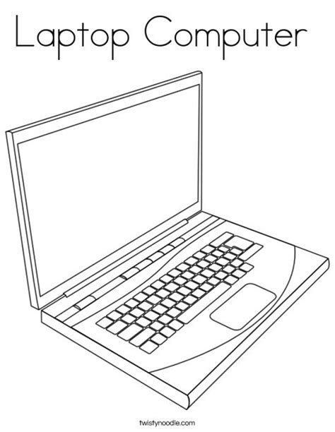 Strong Coler For Laptop And Notbook laptop computer coloring page twisty noodle