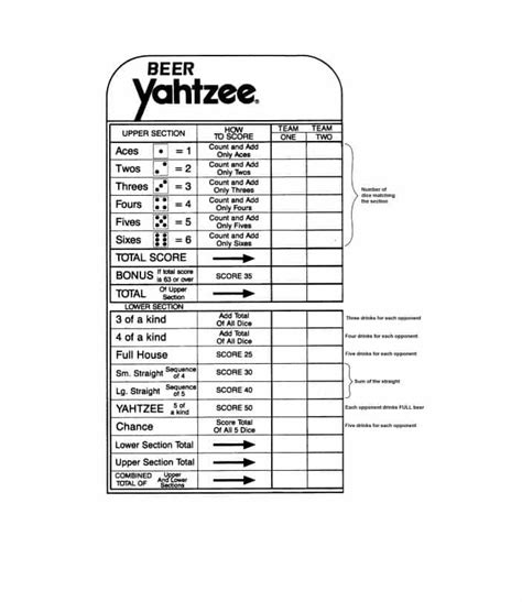 28 printable yahtzee score sheets cards 101 free