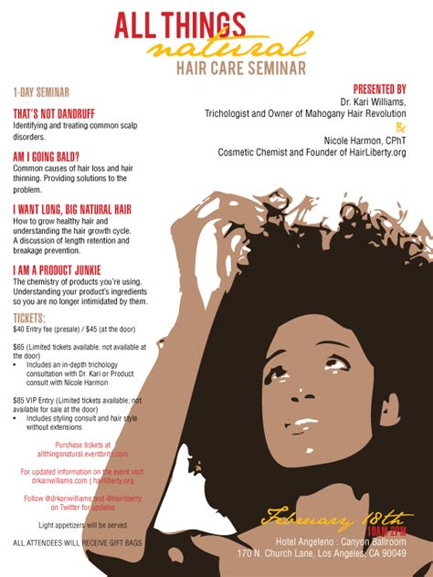 Natural Hair Giveaway - giveaway 2 gold tickets to quot all things natural hair care seminar quot natural chica
