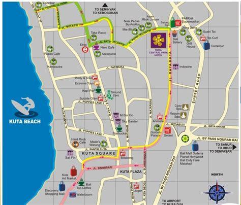 rabasta resort kuta map map of hotel in kuta guess who s going to bali