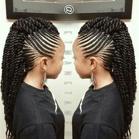 marley hair mohawk style top 25 ideas about braids and marley twists havana twists