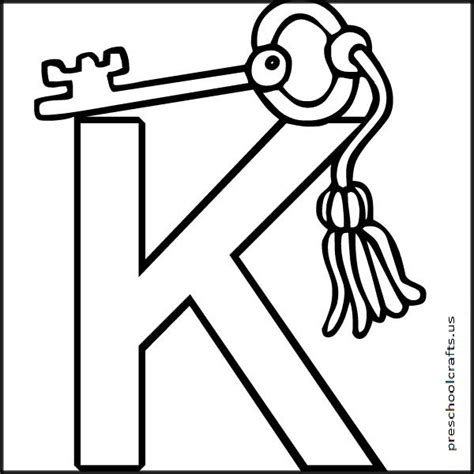 free letter k coloring pages for preschool preschool crafts