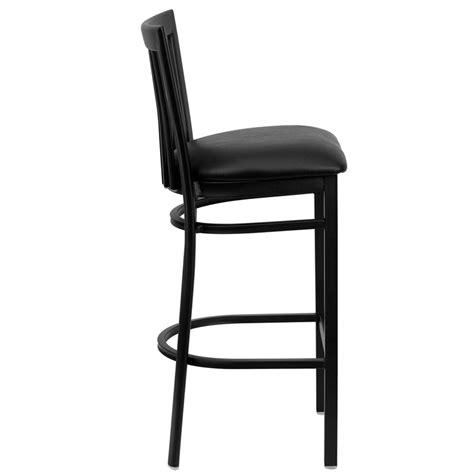 restaurant quality bar stools metal vertical slat barstool
