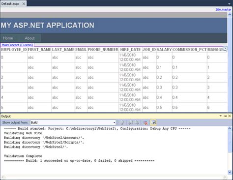 tutorial asp net oracle building asp net web applications with oracle developer