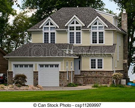 yellow siding house house with yellow siding royalty free picture csp11269997