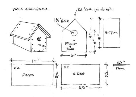 Simple Bird House Plans Woodwork