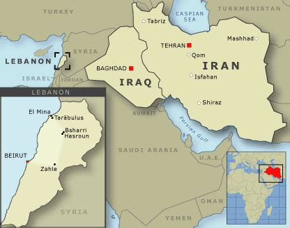 middle east map lebanon the middle east showing iraq iran and lebanon middle