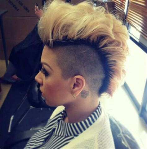 mohawk shaved designs 50 mohawk hairstyles for black women mohawks blondes