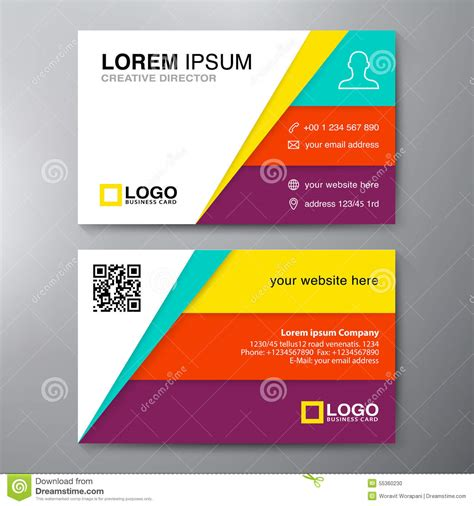 business card design template modern business card design template stock vector