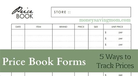 printable grocery price book template price book forms money saving mom 174