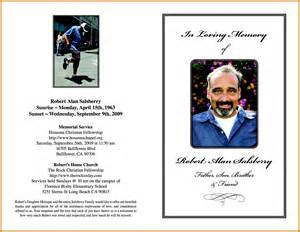 Memorial Service Program Templates by 7 Free Memorial Service Program Template Itinerary