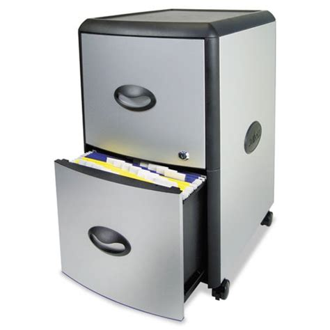 Portable File Cabinet Storex Two Drawer Mobile Filing Cabinet Stx61351u01c