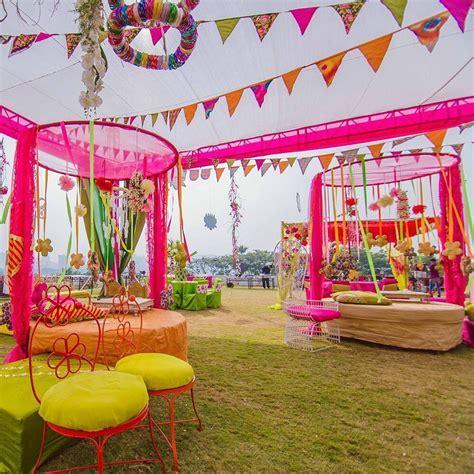 Outdoor mehndi function.   Weddings   Pinterest   Mehndi
