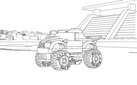 lego monster truck coloring page lego coloring page 60055 monster truck lego pinterest