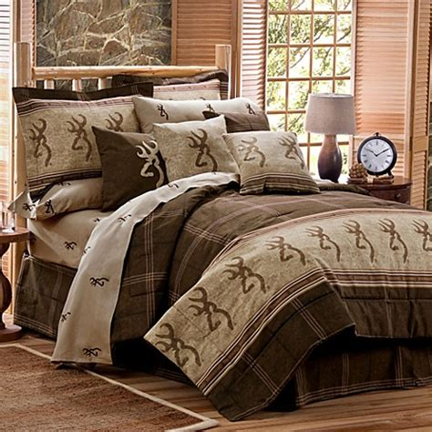 buy browning buckmark twin comforter set in brown from bed